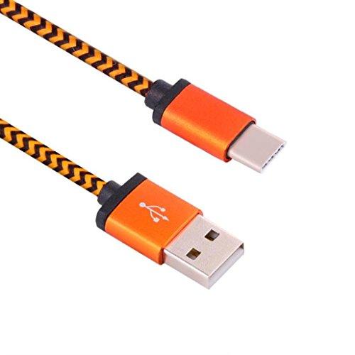 Preisvergleich Produktbild Sansee USB-C 3.1 Typ C Stecker auf USB 2.0 Ein männliches Datenkabel für Oneplus 3 Drei (Orange)