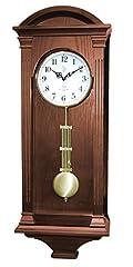 Idea Regalo - 9317 Orologio a pendolo in legno da parete con movimento al quarzo suoneria wenstminster