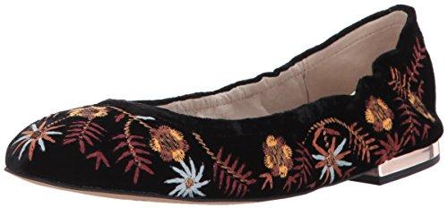 Sam Edelman Women's Farrow 2 Ballet Flat, Black Velvet, 8 Medium US