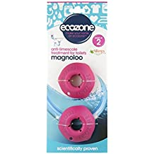 Ecozone Magnoloo Anti Limescale Treatment For Toilets, Removes & Prevents Limescale, Lasts For Up To 5 Years, AllergyUK Certified, Vegan, Cruelty Free - Pack of 2