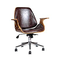ASPECT Chelsea Padded Office Chair, Wood Brown, 73 x 61 x 88 cm