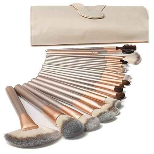 18PCS Pinceaux à Maquillage Kit de Pinceau Visage Maquillage Professionnel Essentiel en Fibre Nylon Souple - Brush Make Up Ensemble Brosse Cosmétique Fondation avec Sac de Rangement Exquis