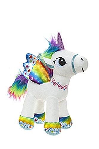 Unicornio con alas de pie 34 cm color arco iris - Calidad...