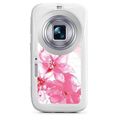 DeinDesign Samsung Galaxy K Zoom Hülle Silikon Case Schutz Cover Blüte Zeichnung Blätter