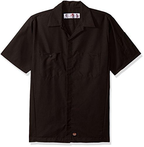 Red Kap Herren Rip-Stop Kurzarm Crew Shirt - Schwarz - XX-Large -