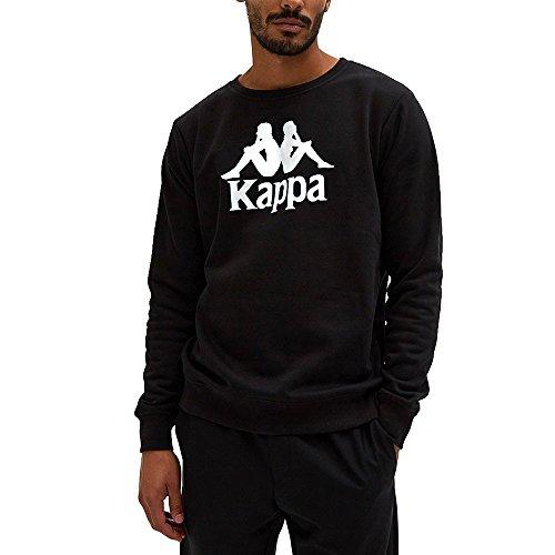 Kappa Herren Authentic Eslogari Sweatshirt, Schwarz, M Plain Sweatshirt Herren