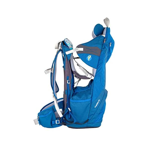 "LittleLife Unisex's Freedom S4 Child Carrier (blue) Back, One size LittleLife Anatomically shaped child seating area, with neck support and soft face pad Includes rear view mirror, sun shade and Foot stirrups Suitable for adults 1.57 - 1.87M/ 5'2"" - 6'4"" 6"