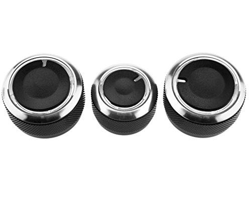 Preisvergleich Produktbild Drehschalter Aluminiumlegierung Kontrolle Button Für VW Golf Passat Bora 3Pc