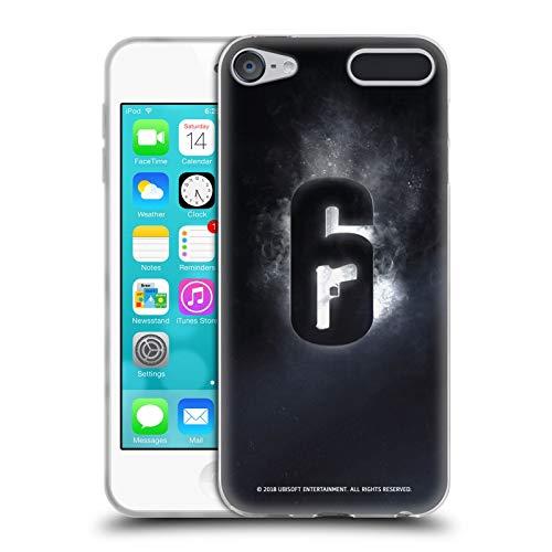 Head Case Designs Offizielle Tom Clancy's Rainbow Six Siege Gluehen Logo Soft Gel Huelle kompatibel mit Apple iPod Touch 6G 6th Gen Sieg Ipod