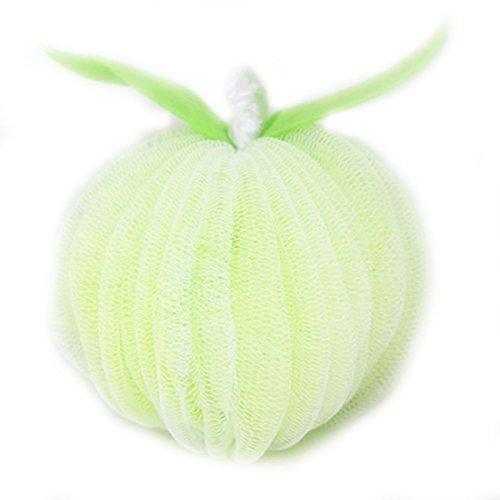 LissomPlume Exfoliate Kürbis Schwamm Badekugeln Dusche Ball Köper Peeling Naturschwamm Badeschwamm - apple Grün