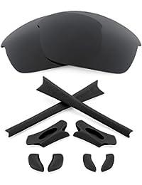 Revant Replacement Lenses + MaxGrip® Rubber Kit for Oakley Flak Jacket - Stealth Black