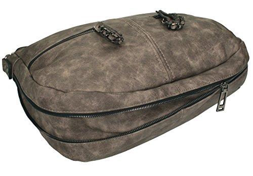 Betz. Borsa da donna borsa borsa per donna PARIS 4 borsa in similpelle con chiusura a zip e due cinghie Talpa