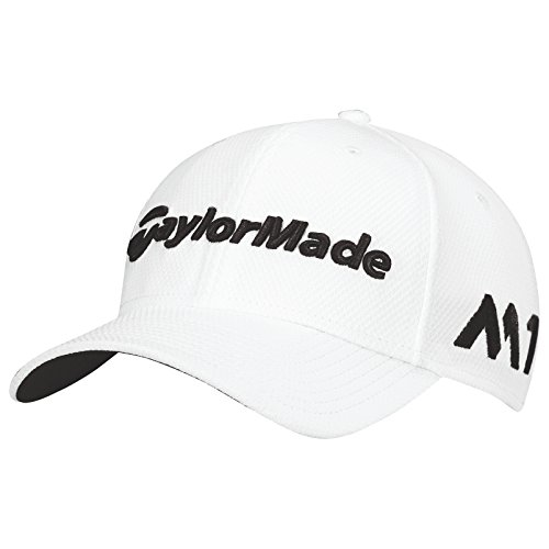 taylormade-2017-new-era-tour-authentic-39thirty-stretch-hat-structured-mens-golf-cap-white-small-med