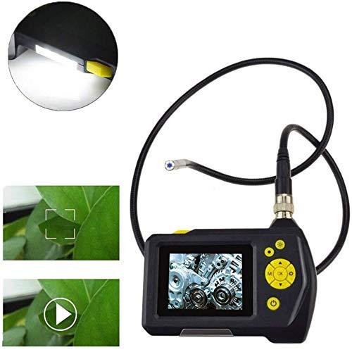Qian Hand Industrie Endoskop 5.5mm Wasserdicht Semi-Rigid-Schlauch-Kamera 6 LED-Leuchten 4-facher Vergrößerung 2,7-Zoll-LED-Liquid Crystal Display USB-Lade Lange Standby,1M