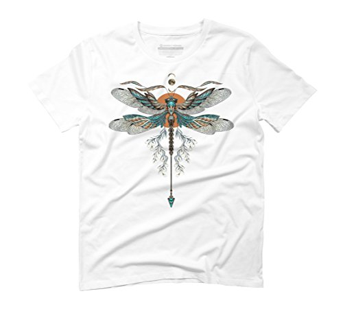 Dragonfly Men's Graphic T-Shirt - Design By Humans White