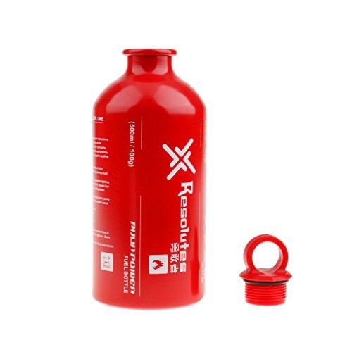Aluminium Ölflaschen / Spiritusflaschen / Benzinflaschen usw. Brennstoffflaschen für Outdoor Camping, BBQ, Grill Gas- Ölbehälter - Größe Auswählbar - Rot, 500ml (Tragbare Outdoor Gas-grill)