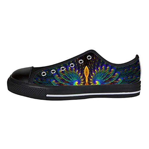 Dalliy sch?ne pfau Men's Canvas shoes Schuhe Lace-up High-top Sneakers Segeltuchschuhe Leinwand-Schuh-Turnschuhe D