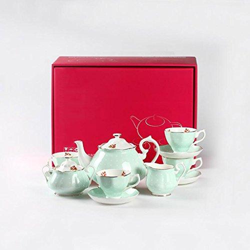 Kaffee Set Geschenk Box einfachen Nachmittagstee Kombination Teetasse Bone China Haushalt Kaffeetasse (UnitCount : A) - Bone China-box