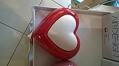 Idea Regalo - Millefiori Diffusore Air Design Cuore Rosso in Ceramica, Multicolore, Unica