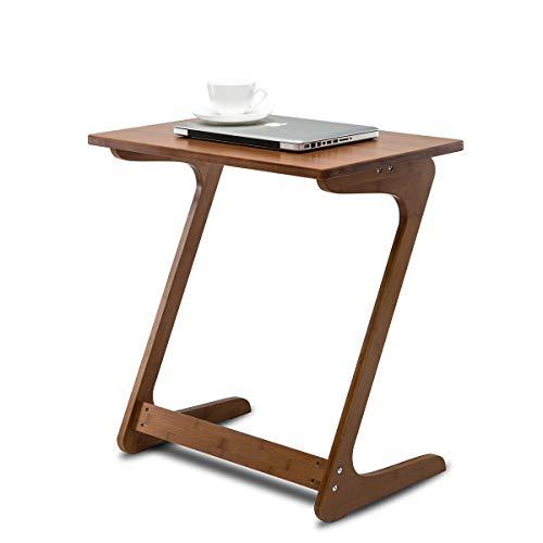 Mesa de centro de Nnewvante, escritorio portátil con laterales desmontables, para el ordenador, comer, escribir o leer en el sofá o la cama, color castaño