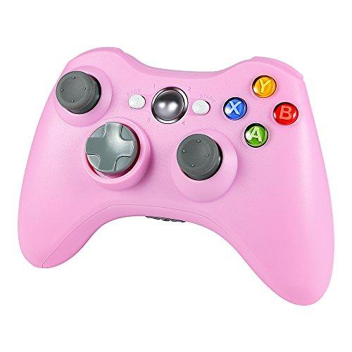 Wetoph Kabellos Controller für Xbox 360, GD01 PC Gamepad Joysticks Controller Integrierte Dual Vibration rosa