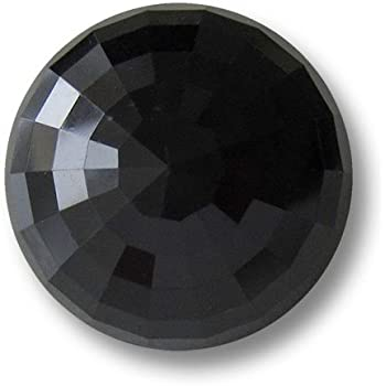 1374sc 10 kleine schwarz glänzende Zweiloch Kunststoffknöpfe