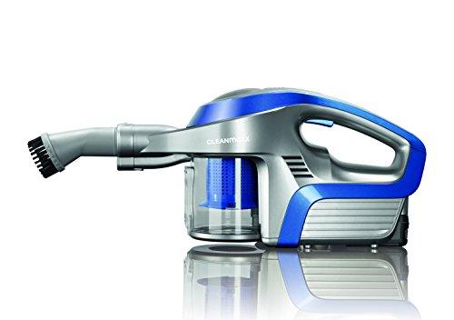 CLEANmaxx 09847 Akku-Zyklon-Staubsauger | Hand- und Bodenstaubsauger in einem | Zyklonstaubsauger | 150 Watt | Blau/Silber