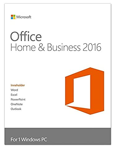 Microsoft Office Home and Business 2016 - Lizenz 1 PC Win