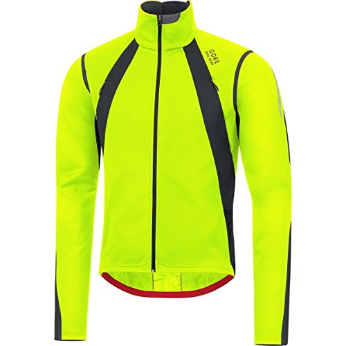 GORE BIKE WEAR Herren Warme Fleece Rennrad-Jacke, GORE WINDSTOPPER, OXYGEN GWS Jacket, Größe: XL, Gelb/Schwarz, JWSOXY (Cycling Softshell Tight)