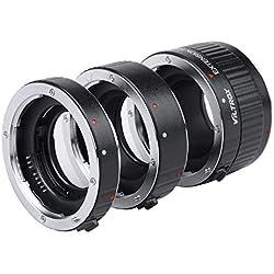 Viltrox Lot de bagues d'extension Macro autofocus 12 mm, 20 mm, 36 mm pour Objectif Canon EF EF-S DSLR Camera 760D 700D 80D 70D 5DII 5DIII 1300D 1500D