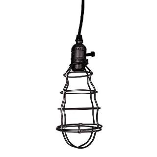Pendelleuchte Lampe Hängelampe Zink-Käfig anthrazit schwarz im Industrie-Stil Retro Vintage Nostalgie Shabby French