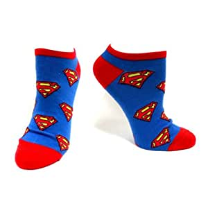 Dc Size 39/42 Superman Ankle Socks (Blue)