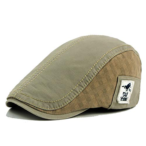 Baumwolle verstellbare Flache Kappe Patch Ivy Applique Duckbill Newsboy Gatsby Tuch Label Irish Cap Hut (Color : 1, Size : Free Size) Irish Patch Cap