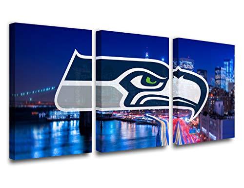 TUMOVO Bild auf Leinwand, Motiv American Football, 5 Stück 42''Wx20''H Artwork-53-seattle Seahawks