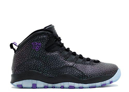 Nike Air Jordan Retro 10, Scarpe da Basket Uomo Nero (Negro (Black / Fierce Purple-Black))