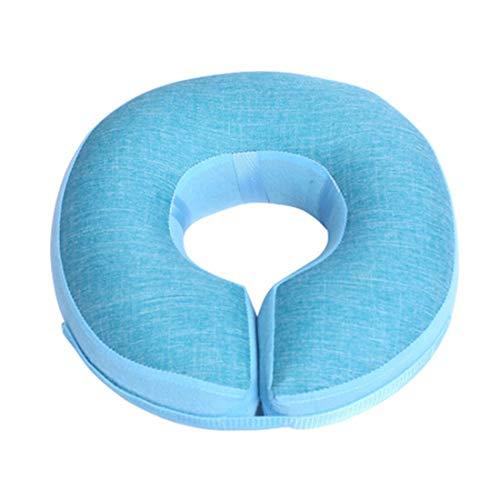 Anxyuan Pet verstellbares Genesungshalsband, aufblasbares Hundehalsband, Katzenkegelhalsband, leichtes elisabethanisches Schutzhalsband aus weichem Stoff, 18,5-21,3 cm, zufällige Farbe -