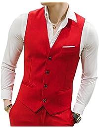 MOGU Chaleco causal chaleco de los hombres de traje 10 colores