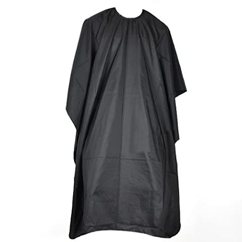 Popamazing Coupe Cheveux Professionnel Qualité de coiffure Coiffeurs Barbiers Cape robe noir