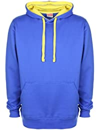 FDM Unisex Contrast Hoodie Royal/Empire Yelllow 2XL