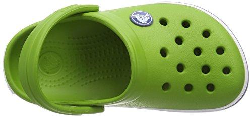 Crocs Crocband Kids, Sabot Unisex Bambini Verde (Parrot Green/White)