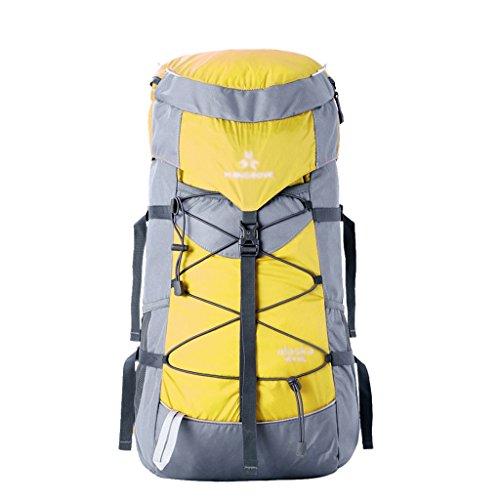 HWLXBB Outdoor Bergsteigen Tasche Männer und Frauen 40 + 10L Wasserdichte Mehrzweck-Bergsteigen Tasche Wandern Camping Bergsteigen Freizeit Rucksack Rucksack 2*