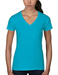 Anvil Women's Basic Short Sleeve V-Neck T-Shirt