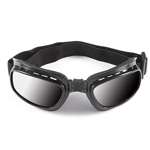 Heaviesk Falten Vintage Motorrad Brille Winddicht Staubdicht Skibrille Off Road Racing Brillen Brille Einstellbar Gummiband