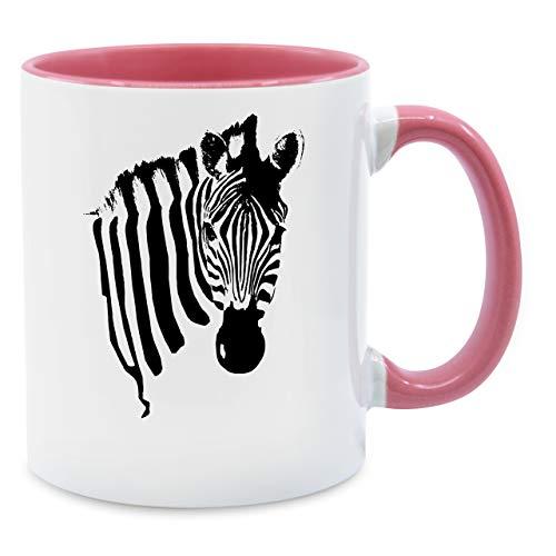 (Statement Tasse - Zebra - Unisize - Rosa - Q9061 - Kaffee-Tasse inkl. Geschenk-Verpackung)