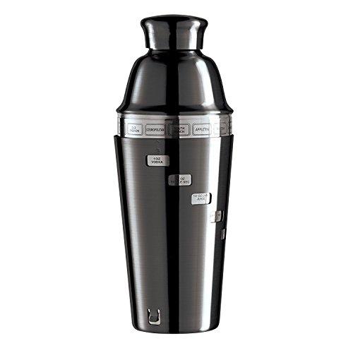 Spiegel dial-a-drink Cocktail Shaker mit 15Rezepten (vernickelt) -