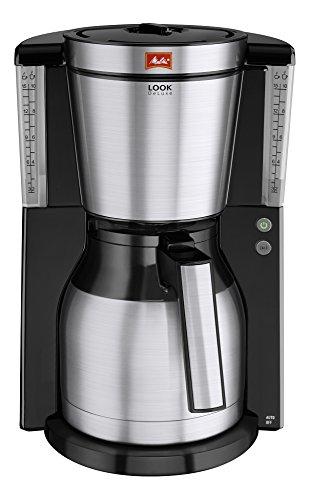 Melitta Look Therm DeLuxe 1011-14, Filterkaffeemaschine mit Thermkanne, AromaSelector, - Kaffeemaschine Schwarz Timer Mit