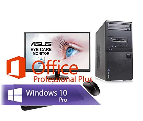 Ankermann PC Bundle Intel Core i5 4570 4X 3.20 GHz HD 8GB RAM 240GB SSD 1TB HDD Windows 10 W-LAN Office Professional 2016 24 TFT Keyboard Mouse Work Business