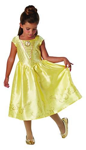 Fancy Ole - Mädchen Girl Kinder Belle Kostüm, Live Action Movie Classic, perfekt für Karneval, Fasching und Fastnacht, 128-140, Gelb