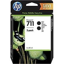 """HP Paquete de 2 - Cartucho de tinta para impresoras (negro, HP, P2V31A, Negro, Designjet T120 24"""" ePrinter, Designjet T520 24"""" ePrinter, Designjet T520 36"""" ePrinter, Alto, 80 ml)"""