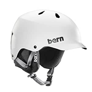 Bern Men's Watts EPS Satin Helmet - White, Small/Medium